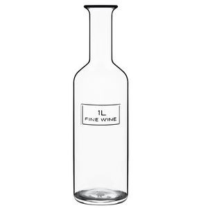 Luigi Bormioli Optima Wine Bottle 1 L, Bulk